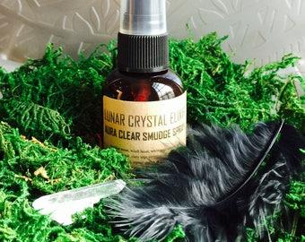 Aura Clear Smudge Spray Lunar Crystal Elixir