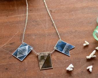 Signals Nautical Flag Necklace - custom nautical flag necklace, custom name necklace, semaphore necklace, NS01