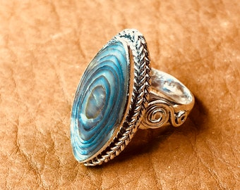 Abalone & Sterling Ring