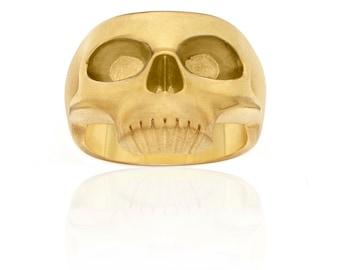 Yellow Gold Skull Ring