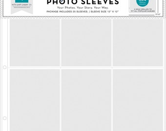 "Photo Freedom Photo Sleeves/Protectors, 12X12"" Scrapbook Album Pages, Set of 5"