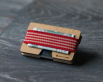 Wooden wallet, credit card holder, men's and women's wallet , slim wallet, minimalist wallet, modern design wallet, N wallet