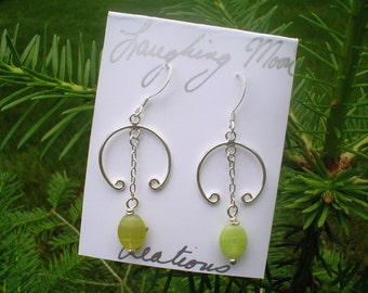 Reserved for Veronica-Citrus OOAK Earring on sterling silver