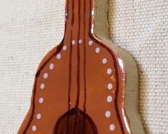 Guitar Handmade Ceramic Mosaic Tile