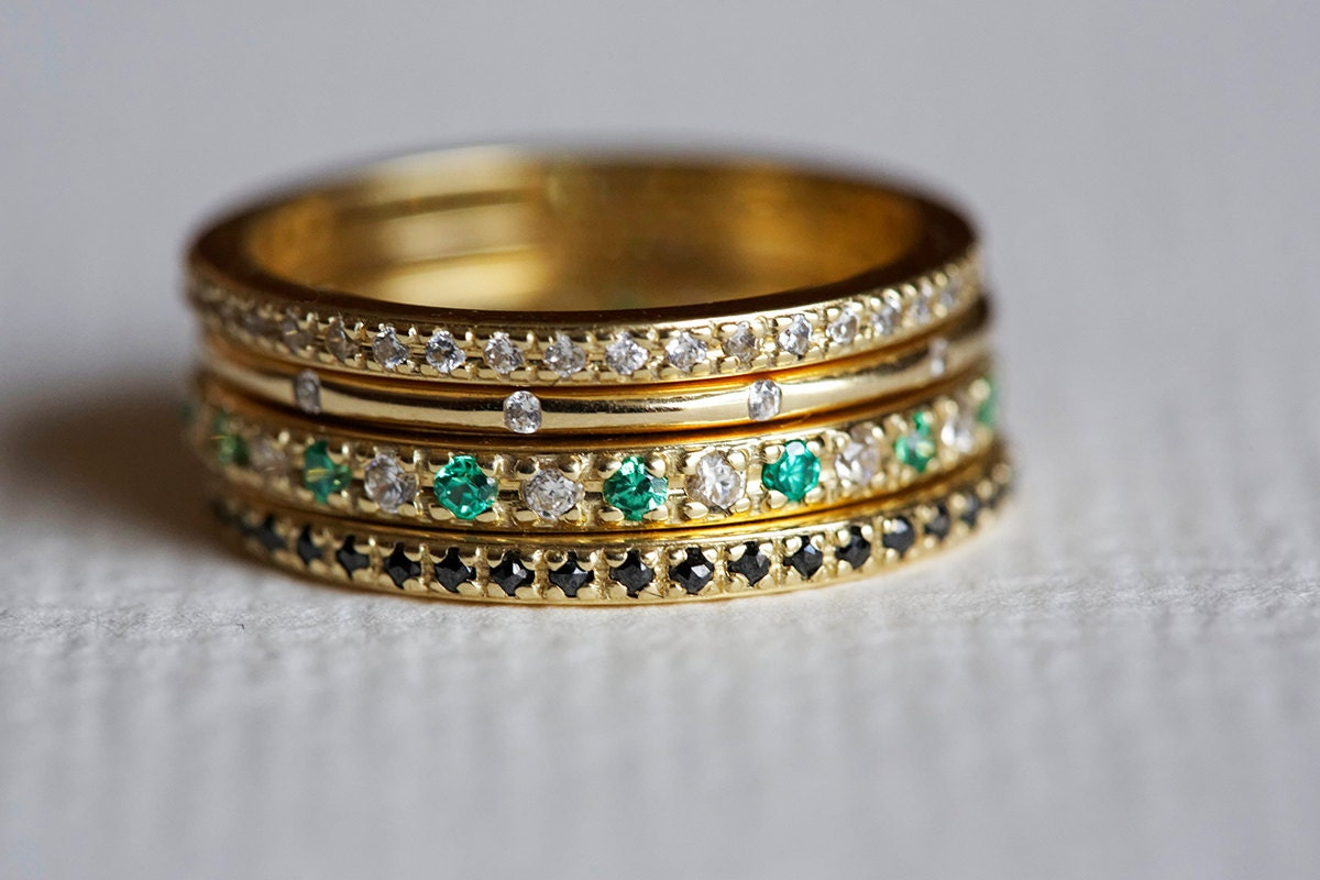 Stacking Engagement Ring Diamond Stacking Rings micropave