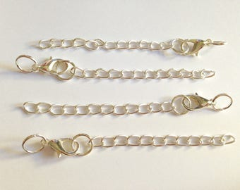 Silvery chain extension 5cm with clasp.