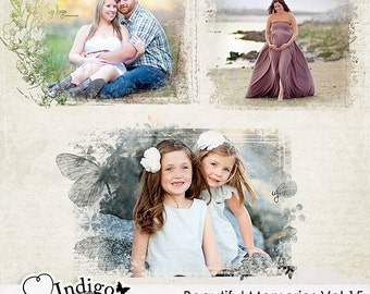 Beautiful Memories Vol.15 Photo Masks - Digital Scrapbook Overlays - Personal and Commercial Use, D028 - Instant Download