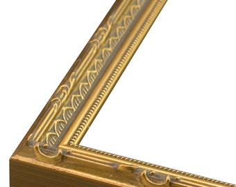"""Ornate Gold W Bead Lip Picture Frame 3/4"""" All Sizes Picture Frame. 3x5,4x6,5x7,6x8,8x10,9x12,11x14,12x16,14x18,16x20"""