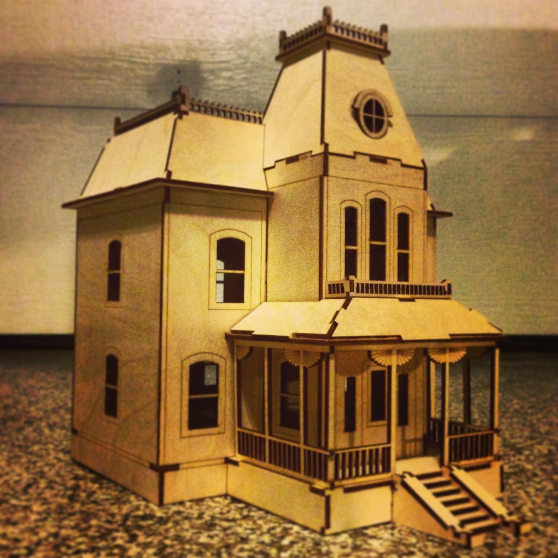 Bates Motel Haunted House Laser Cut Wooden Model Kit