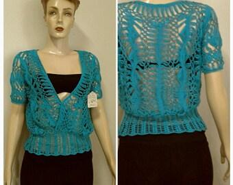Crochet  Women  Lace  Sweater