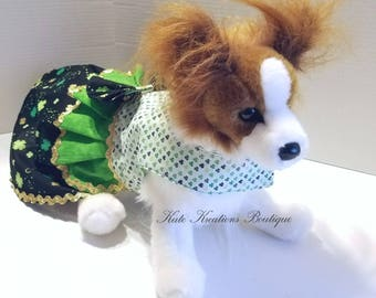 St. Patrick's Small Dog dress/Pet Dress/St. Patrick's Dress