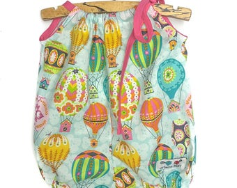 bubble, hot air balloon bubble, romper, girls dress