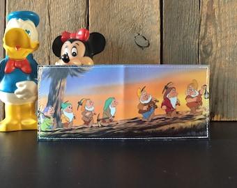 The Seven Drawfs Disneyland Map Wallet