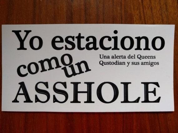 5 spanish language asshole parking bumper stickers