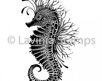 Lavinia Stamps, Sebastian the Seahorse, Card Making, Paper Craft, Papercraft, Seahorse, Stamp