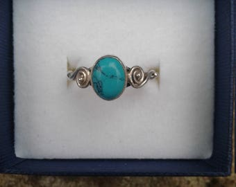 Turquoise sterling silver ing
