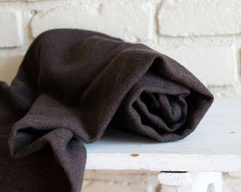 Dark Brown Herringbone Flannel Baby Blanket - Receiving Blanket - Crib Blanket - Nursing Blanket - Baby Shower Gift under 30