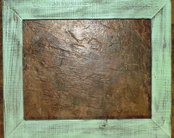 "1-1/2"" Mint Distressed Picture Frame"