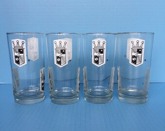 Set of four vintage Zenith promotional glasses