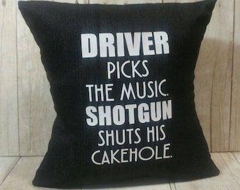 Driver Picks the Music Supernatural (Small) Pillow