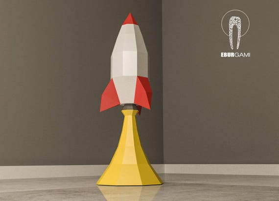 Rocket Papercraft 3D Paper Craft Rocket Launch Rocket Ship