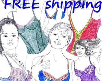 BRA Pattern BHST2 for Bras & Corsets FREE Shipping by Merckwaerdigh