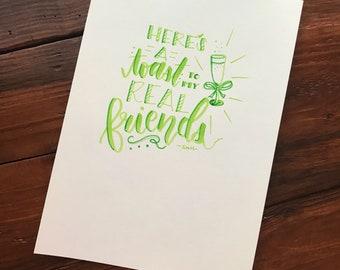 Handlettered Taylor Swift Lyric Art Print
