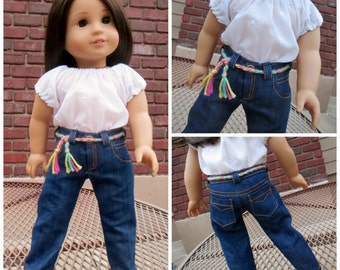 Jeans Pattern for 18 inch dolls -like American Girl