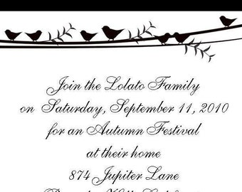 Birds on a Vine Invitations