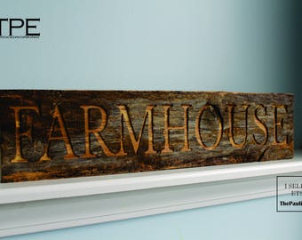 Farmhouse Sign. Wood Sign. Made from a Kentucky horse farm fence. Farmhouse Decor. Vintage Decor. Rustic Wall Decor.