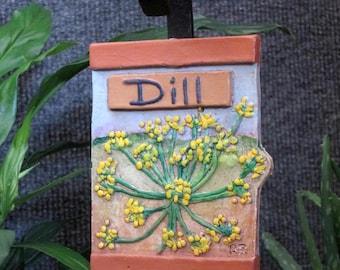Dill herb garden marker