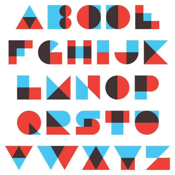 Razorblade vector alphabet