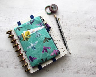happy planner pouch - planner accessories bag - pencil case - planner band - BUJO bag - pocket planner pouch - tassel charm - Teachers Gift