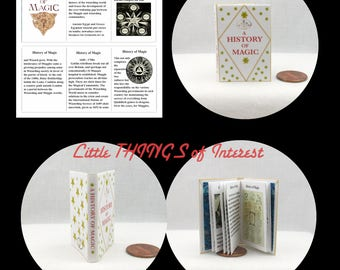 A HISTORY of MAGIC 1:6 Scale Illustrated Readable Book Magic Wizard Witch Fortune Teller Gypsy Potter Barbie Popular Boy Wizard