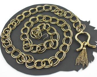 Bohemian Vintage Gold Chain Belt or Necklace