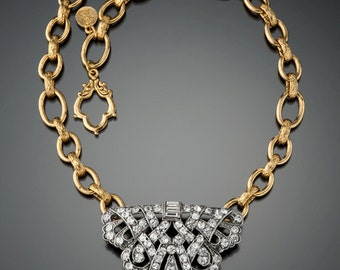 Vintage Fur Clip Necklace