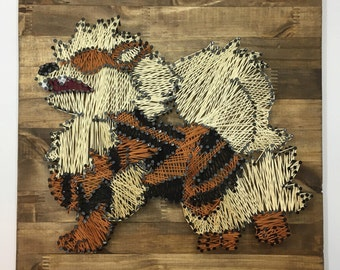 Pokemon Arcanine Minimalist String Art