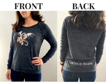 Mother of Dragons Embroidered Pullover, Gifts for Readers, GoT, Daenerys Targaryen, Literary Gifts