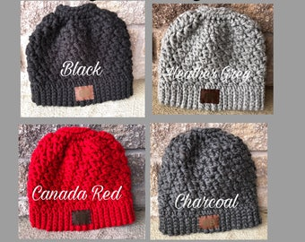 Crocheted Messy Bun/Pony Hats-Choose from 15 colors!