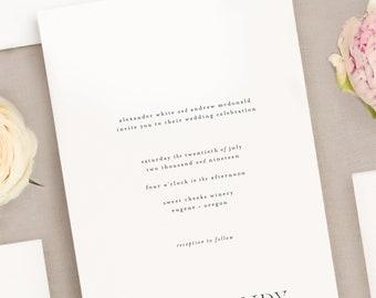 Wedding Invitation Suite - Chic Type