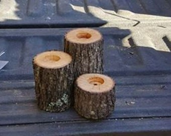 Plain Log Candle Holders