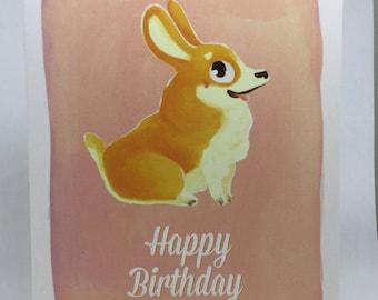 Corgi Dog Birthday Card