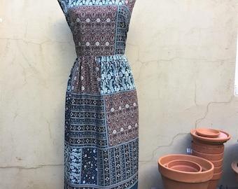Patchwork dress. Maxi dress. Summer nights dress. Flower print. Quilt. Slow fashion. Handmade dress. Summer nights dress