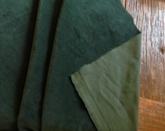 Bottle Green Cotton Furnishing Velvet by Truly Sumptuous for Curtains etc....Metre of Fat Quarter