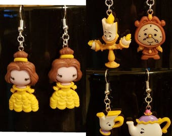 Beauty and the Beast earrings