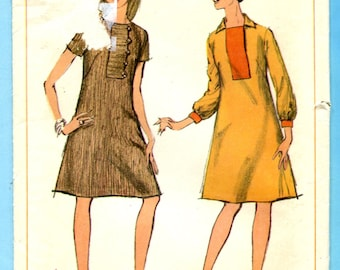 Simplicity 7202 Dress Vintage 60s Sewing Pattern Misses Size 10 Bust 31