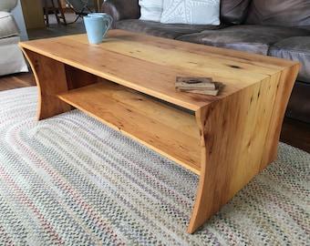 Reclaimed Pine Waterfall Coffee Table