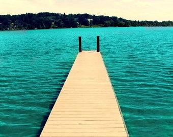 Dock on Deer Lake Fine Art Photography on Metallic Paper