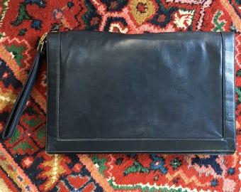 NEW LOWER PRICE:Bella Donna Black Leather Clutch