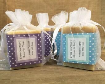 Baby Shower Soap Favors - Personalized Soap Favors - Wedding Favors - Bridal Shower Favors - Organza Bag Favors - Custom Favors